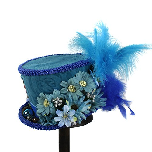 Easy Go Shopping Kentucky Derby Rosa Hut-Minispitzen-Hut Königlicher Blauer Schmetterlings-Hut, Königlicher Ascot Pferderennen-Hut (Farbe : Blau, Größe : 25-30cm)