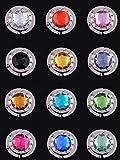 Heelinna 12 piezas colorido diamante plegable sección de la mesa bolso de mano bolsa gancho soporte (color al azar)