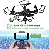 FPV Drone with Camera, JoyGeek Drone for Kids FPV Quadcopter with 720P HD Camera APP Control 2.4GHz 6Axis Gyro Trajectory Flight Headless Mode Altitude Hold One-Key Function RC Helicopter(Black)