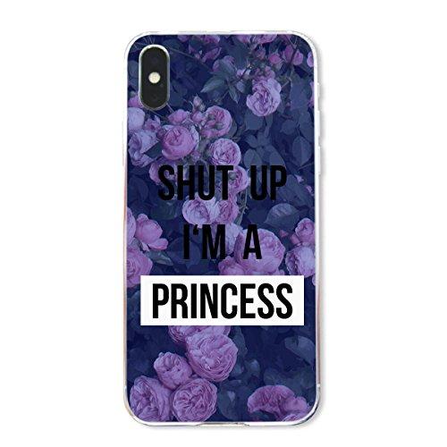 finoo | Iphone X Hard Case Handy-Hülle mit Motiv | dünne stoßfeste Schutz-Cover Tasche in Premium Qualität | Premium Case für Dein Smartphone| Fuck You Herz Shut up im a Princess