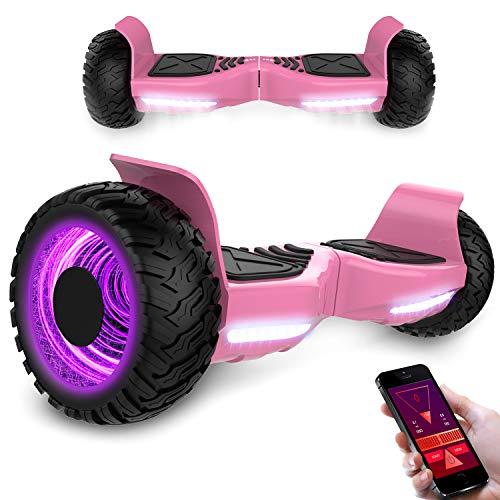 Kategorie <b>Zweirad E-Board (Hoverboard) </b> - MARKBOARD Hover Scooter Board 8,5 Zoll Elektro Skateboard 350W*2 Motor - Gyropod Modell Bluetooth (LED Pink)