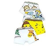 IKRR 4 pezzi Intimo per Bambini Mutande di Cotone Unisex Foto di Animali (S / 1-3 anni / 9-12kg, Zoo-Ragazzi)