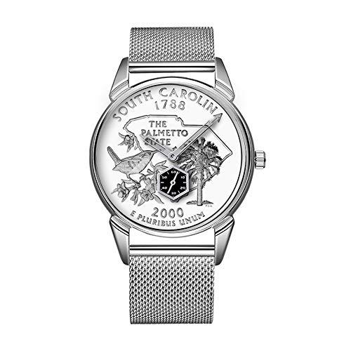 Mode wasserdicht Uhr minimalistischen Persönlichkeit Muster Uhr -824. Staats Viertel South Carolina -