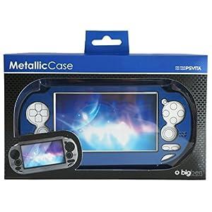 BigBen Metallic Schutz-HülleBlau Tasche Hard-Case Cover für Sony PS Vita PSV PSVITA Konsole