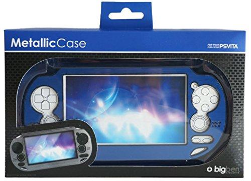 BigBen Metallic Schutz-HülleBlau Tasche Hard-Case Cover für Sony PS Vita PSV PSVITA Konsole Sony Hard-faceplates