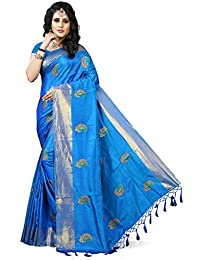 Gaurangi Creation Art Silk Saree With Blouse Piece(Kf1003_Blue Free Size)
