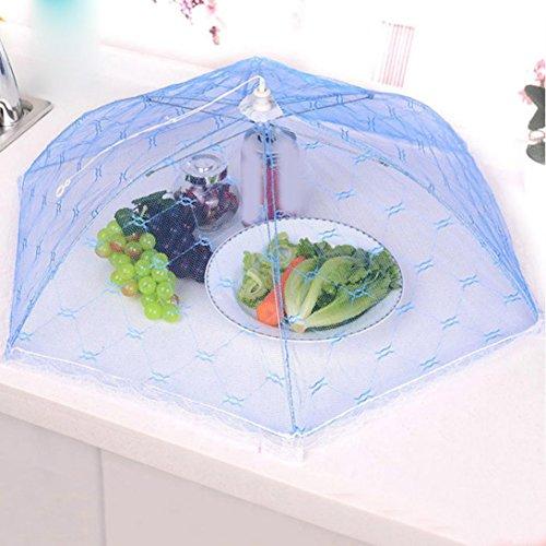 HCFKJ Regenschirm Stil Hexagon KüChe Kochen Werkzeuge Gaze TüLl Spitze Tisch Essen Abdeckungen FüR Mahlzeit Trinken Obst Picknick