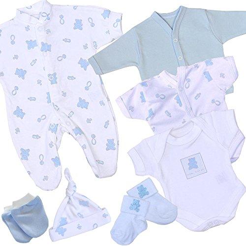 BabyPrem Frühchen, kleine Frühgeborene Kleidung 7-teiliges Geschenkset BLAU P3