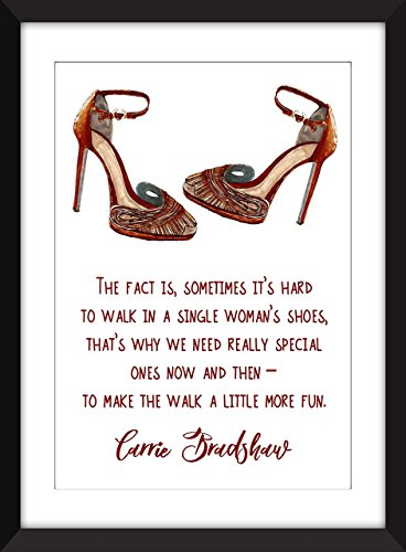 carrie-bradshaw-sex-and-the-city-single-womans-shoes-quote-unframed-imprimir