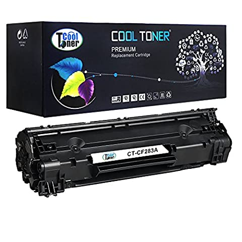 Cool Toner Compatible for CF283A 83A Black Toner Cartridge replacement for HP LaserJet Pro MFP M125 M125a M125nw M125rnw M126a M126nw M127fn M127fp M127fw M128fn M128fp M128fw M225 M225dn M225dw M225rdn, LaserJet Pro M201n M201dw M202n M202dw, 1500