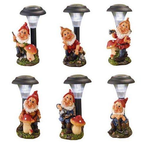 Edco 8711252958086AS PR Solarleuchte mit Gartenzwerg,28cm, mehrfarbig, sortiert