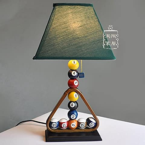 YU-K Green Room Billiards table lamps resin