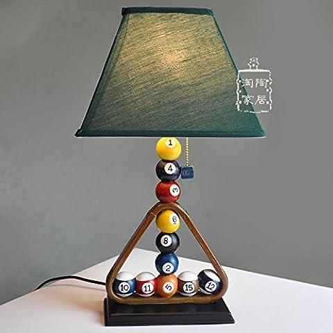 Grüne Zimmer Billard Lampen Harz Kinder 45 * 26 CM, Schalter des Helligkeitsreglers