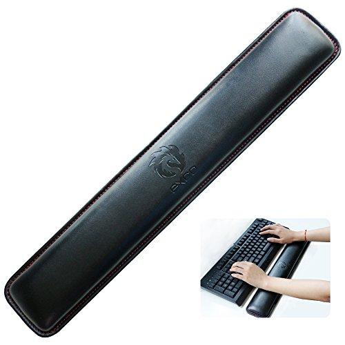 Tastatur Handgelenkauflage pad-exco Handgelenk liegt, Memory Foam rutschfeste Schwarz PU Leder Palm Support Wrist Pad Handgelenk Kissen für Laptops/notebooks/Mac Book//PC/Computer