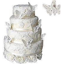TININNA 2 piezas tarta/galletas decoración figuras de azúcar cortadores y émbolos – formas de Mariposa