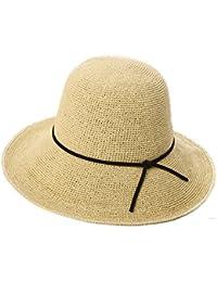 Cappello ZHIRONG Estate Estivo da Donna Spiaggia Holiday Fatto a Mano Estate  Casual Tesa Larga Pieghevole d91262cf8c27