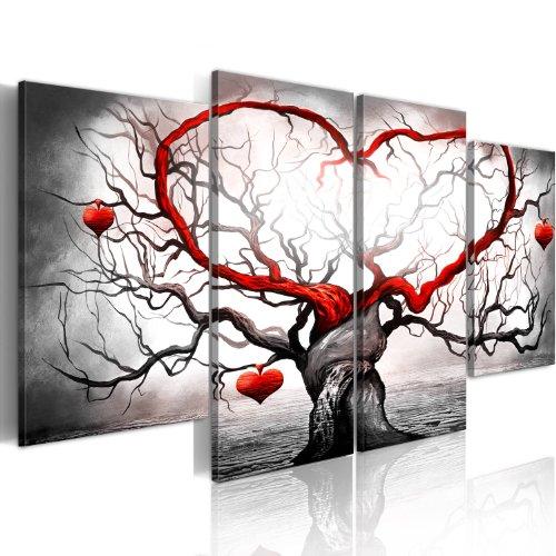 murando - Bilder 160x80 cm - Leinwandbilder - Fertig Aufgespannt - Vlies Leinwand - 4 Teilig - Wandbilder XXL - Kunstdrucke - Wandbild - Liebe 5717