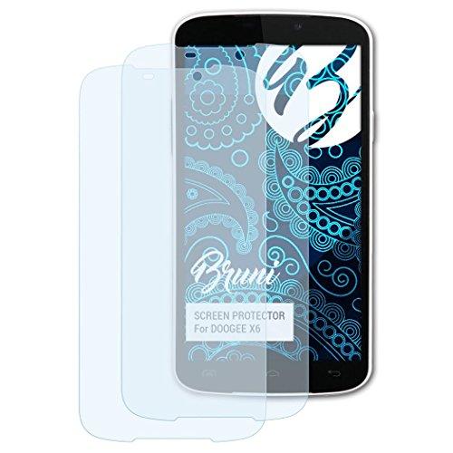 Bruni Schutzfolie für DOOGEE X6 Folie, glasklare Bildschirmschutzfolie (2X)