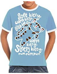 Touchlines Soft Kitty Warm Kitty Ringer Men's Contrast T-Shirt