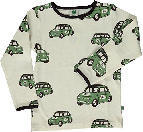 Smafolk Langarm Auto T-Shirt - Creme - 98-104cm - 3-4 years