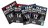 Preston Barbless 15 Hair Rigs With Bait Bands Size 14
