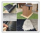 Abri de jardin Base Grille 11x 6= complet Eco Kit 3.4M x 1,85m + MEMBRANE très résistante en plastique Eco pavés bases & Allée grilles