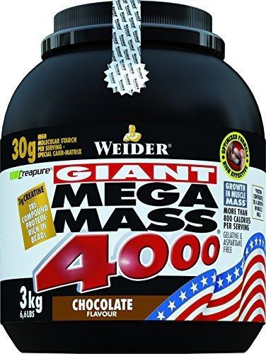 Weider Nutrition Mega Mass 4000 Strawberry Powder 3000g by Weider Nutrition