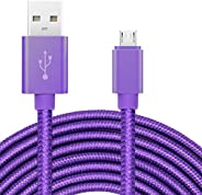 ebulous 10ft/3m Extra Long Micro USB Charging Cable, Premium Nylon Braided Android Charger USB 2.0A High Speed