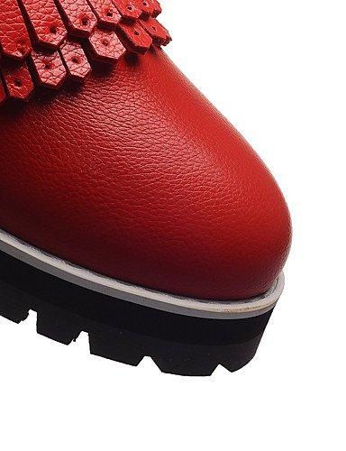 WSS 2016 Chaussures Femme-Extérieure / Bureau & Travail / Habillé-Noir / Rouge / Blanc-Gros Talon-Talons / Confort / Bout Arrondi-Talons- black-us5 / eu35 / uk3 / cn34