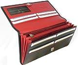 Visconti Colorado Damen Geldbörse aus Leder, cd21, zweifarbig, Schwarz, Rot