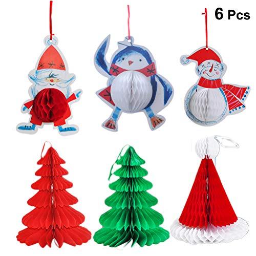 Toyvian Weihnachten hängende Dekoration Papierwaben Bälle 6tlg
