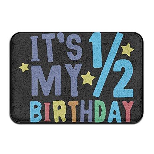 t's My Half Birthday Non-Slip Indoor/Outdoor Door Mat Rug for Health and Wellness Toilet Entrance Rug 23.6