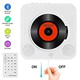 Aisuo Portable CD Player, Home Audio with Built-in Bluetooth 4.2 Hifi Speaker, Wall