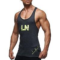 LEIF NELSON Gym Herren Fitness Stringer LN06205