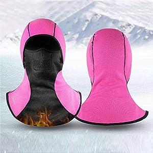 feiledi Trade Gesichtsmaske für Damen und Herren, Winddicht, warme Fleece-Sturmhaube, warme Kopfbedeckung für Motorrad, Radfahren, Skifahren, Wandern, Laufen