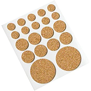 Cork Pads Self Adhesive Round 12mm Pack Of 1 Product