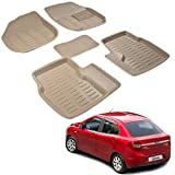 #2: Kozdiko 3D foot mats Beige color set of 5 pcs For Ford Figo::Aspire