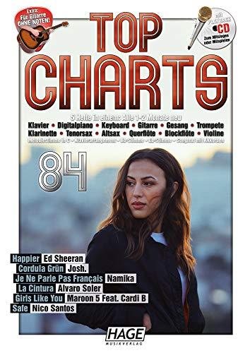 Top Charts 84 (mit CD): Die aktuellsten Hits der erfolgreichsten Stars und das Beste aus den Charts!