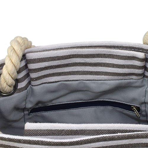 fe6e193d2eed1 ... Sonia Originelli XS Shopper Sylt Shopper Tasche Koordinaten Farbe Grau-Rosa  Grau-Rosa
