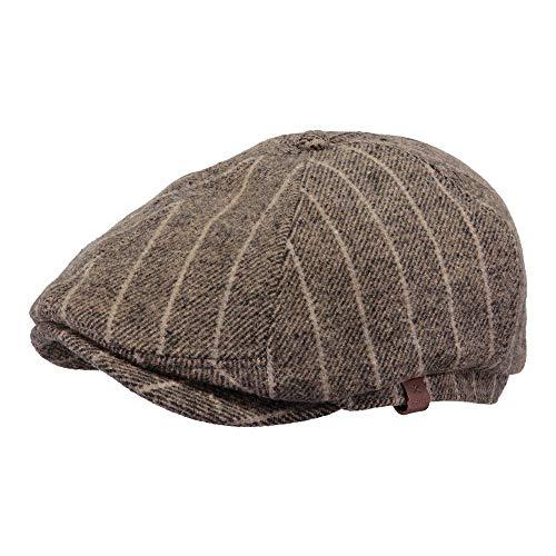 Barts Mens Jamaica Wool Blend Adjustable Newsboy Flat Cap -