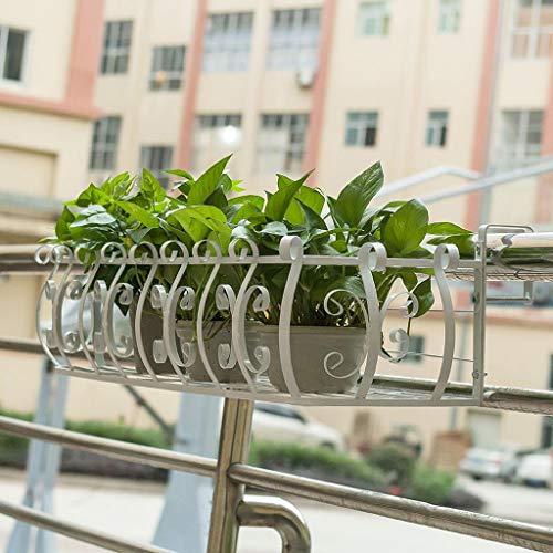 JHhuajia Support pour Plantes sur Pied Support pour Fleurs sur accoudoir (Couleur : Blanc, Taille : 60 * 21 * 20cm)