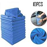 Kloius 10 unids Paño de Limpieza de Microfibra Absorción de Agua Cuadrada Limpieza de Coches Toalla