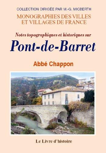 Notes topographiques et historiques sur Pont-de-Barret