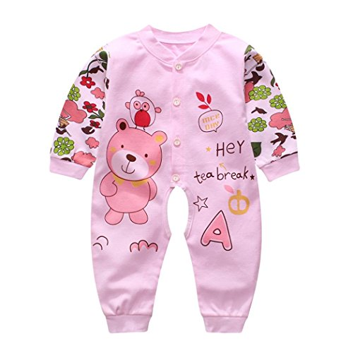Xinantime - Recién nacido Pijama Bebés Algodón Niñas Niños Sleepsuit 1 Años (0-3 Meses, Rosa)