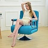 Dngy*Un solo doblez independiente con sofá cama simple y moderna, con un descanso para el almuerzo girar las dos siesta seat , Sky Blue