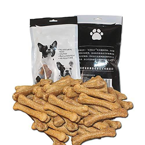 ouken Gesunde Edibles Dog Chew-Stock-Welpe kaut Trainings Snacks Rinderknochen-Form-Haustier-Snack für die Zähne Gesundheit Aus Aller natürlichen Zutaten Beef Flavor -