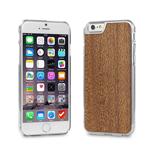 Cover-Up #WoodBack Hülle aus echtem Holz in klar für iPhone 6 / 6s - Mahagoni (Mahagoni Echte)