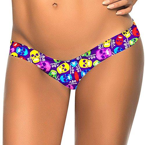 TWIFER Damen Bikini Bottom Slip Thong Badeanzug Bade Bademode Tanga Brazilian