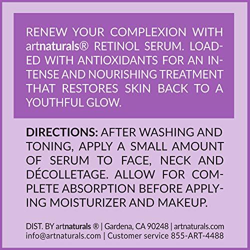 ArtNaturals Retinol Serum mit Vitamin C und Hyaluronsäure – Naturrein – 30 ml - 3