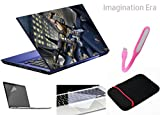 Imagination Era - Laptop skin 5 in 1 combo pack with Laptop Skin, Screen Guard, Key Protector,USB light and laptop sleeve for 14 inch all type laptop.
